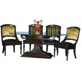 CUP TABLE BASE with OVAL GLASS